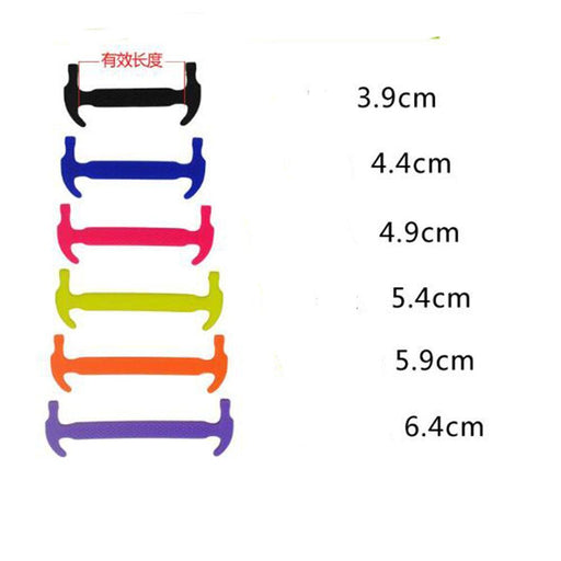 Modern 12Pcs/Set Practical Able Men Women Lazy Hammer Type No Tie Shoelaces Elastic-Shoe Accessories-Lavender Store-Black-EpicWorldStore.com