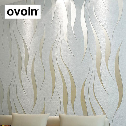 Modern 3D Abstract Geometric Wallpaper Roll For Room Bedroom Living Room Home Decor Relief Wall-ovoin Official Store-wp23808 Creamy white-EpicWorldStore.com