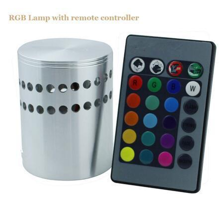 Modern Led Ceiling Light 3W Rgb Wall Sconce For Art Gallery Decoration  Front Balcony Lamp Porch