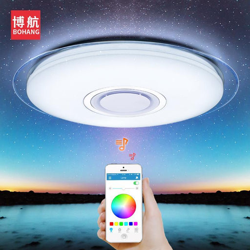 Modern Led Ceiling Light Rgb Dimmable 52W App Control Bluetooth & Music Ceiling Lights Living For-Ceiling Lighs & Fans-BOHANG Lighting. Store-550mm x 85mm 52W-EpicWorldStore.com
