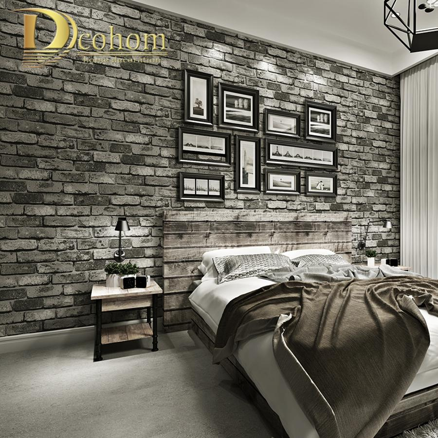 Modern Vintage Brick Textured Wallpaper For Walls Decor Embossed 3D Wall  Paper Rolls For Bedroom