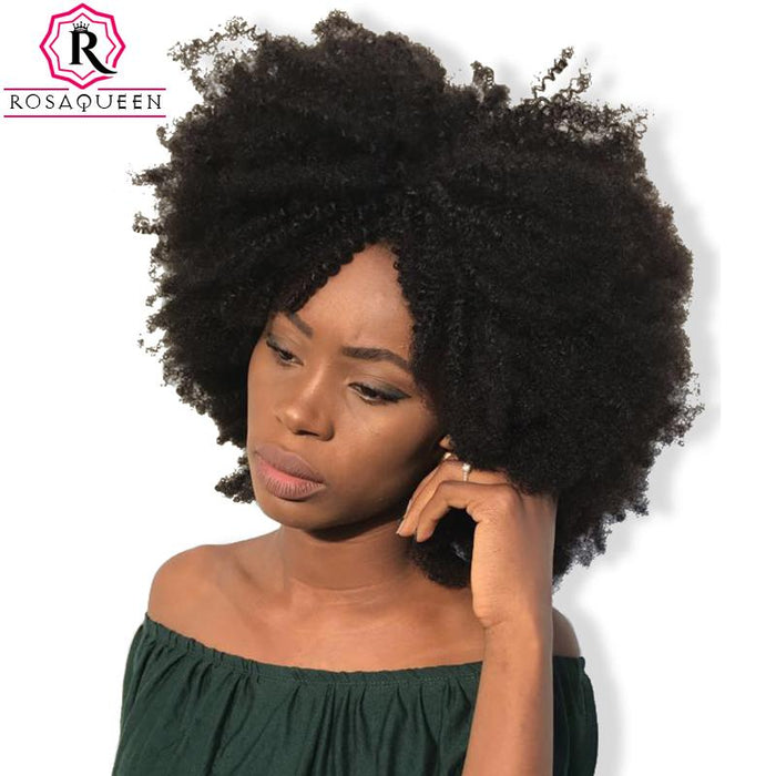Mongolian Afro Kinky Curly Hair Weave 4b 4c 100 Natural Human Hair