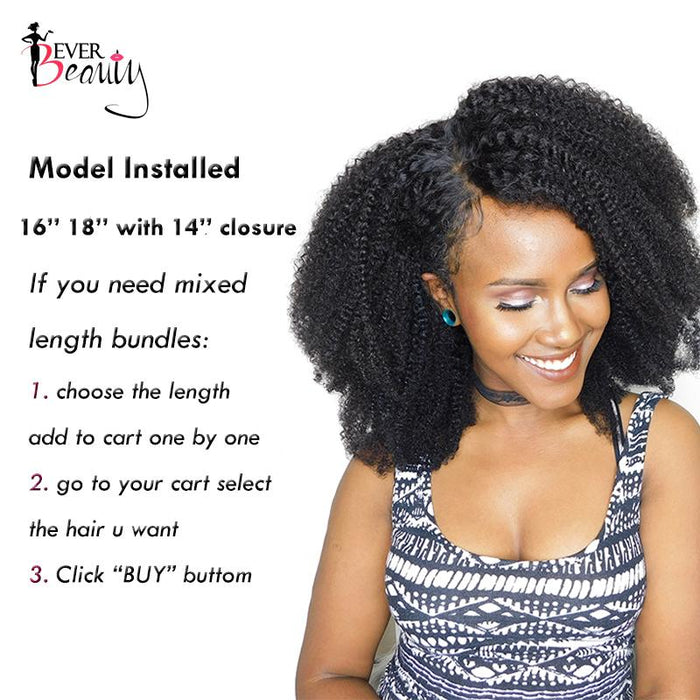 Mongolian Afro Kinky Curly Weave Human Hair Extensions 4b 4c Hair 1