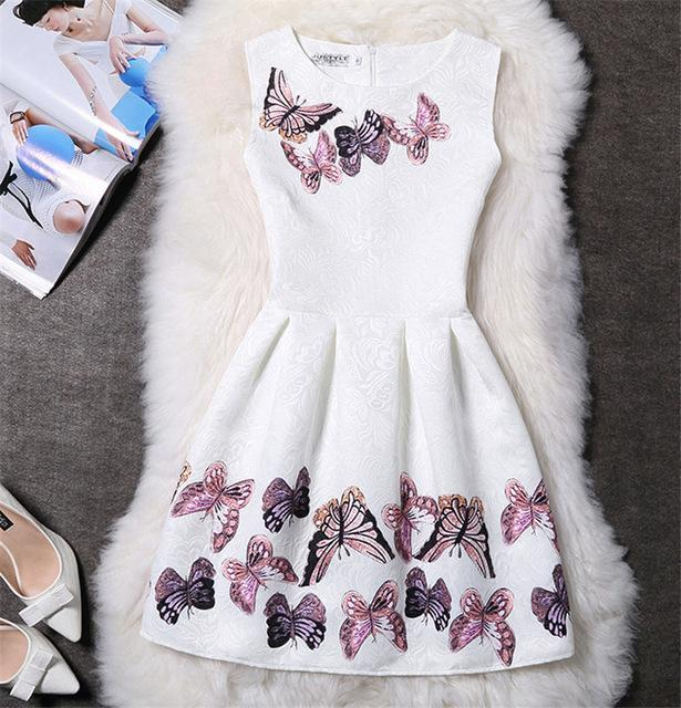 7c6d9204e9ca Mother Daughter Dresses New Girls Vintage Printed Spring Dress Family  Matching Dress Mother-Family Matching