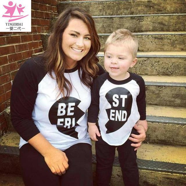 8477bb04e6 Mother Mum And Daughter Clothes Shirt Pajamas Set Family Matching Outfits  Best Friends Mommy And-