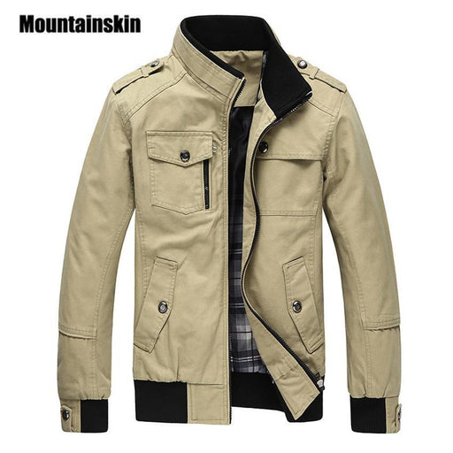 Mountainskin Casual Mens Jacket Spring Army Military Jacket Men Coats Winter Male Outerwear-Jackets & Coats-Mountainskin Official Store-Black-M-EpicWorldStore.com