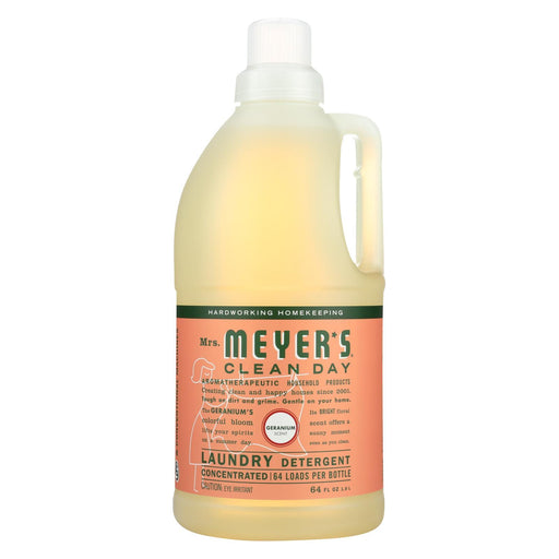 Mrs. Meyer'S Clean Day - 2X Laundry Detergent - Geranium - 64 Oz-Eco-Friendly Home & Grocery-Mrs. Meyer's-EpicWorldStore.com