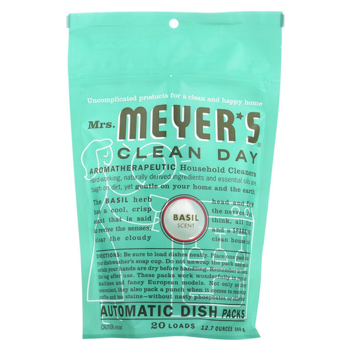 Mrs. Meyer'S Clean Day - Automatic Dishwasher Packs - Basil - 12.7 Oz-Eco-Friendly Home & Grocery-Mrs. Meyer's-EpicWorldStore.com