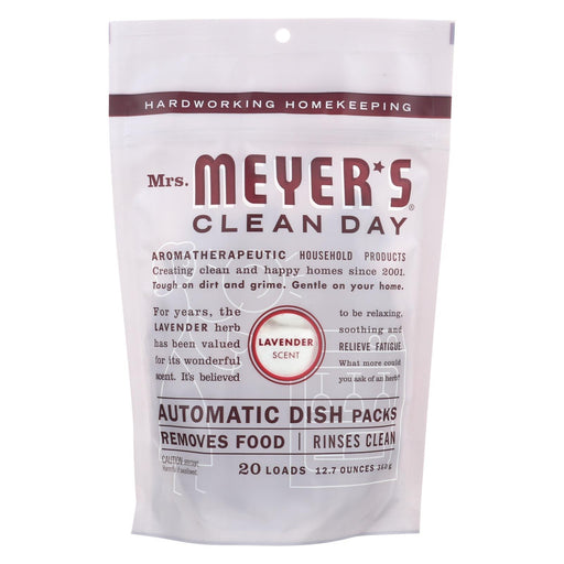 Mrs. Meyer'S Clean Day - Automatic Dishwasher Packs - Lavender - 12.7 Oz-Eco-Friendly Home & Grocery-Mrs. Meyer's-EpicWorldStore.com