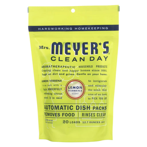 Mrs. Meyer'S Clean Day - Automatic Dishwasher Packs - Lemon Verbena - Case Of 6 - 12.7 Oz-Eco-Friendly Home & Grocery-Mrs. Meyer's-EpicWorldStore.com