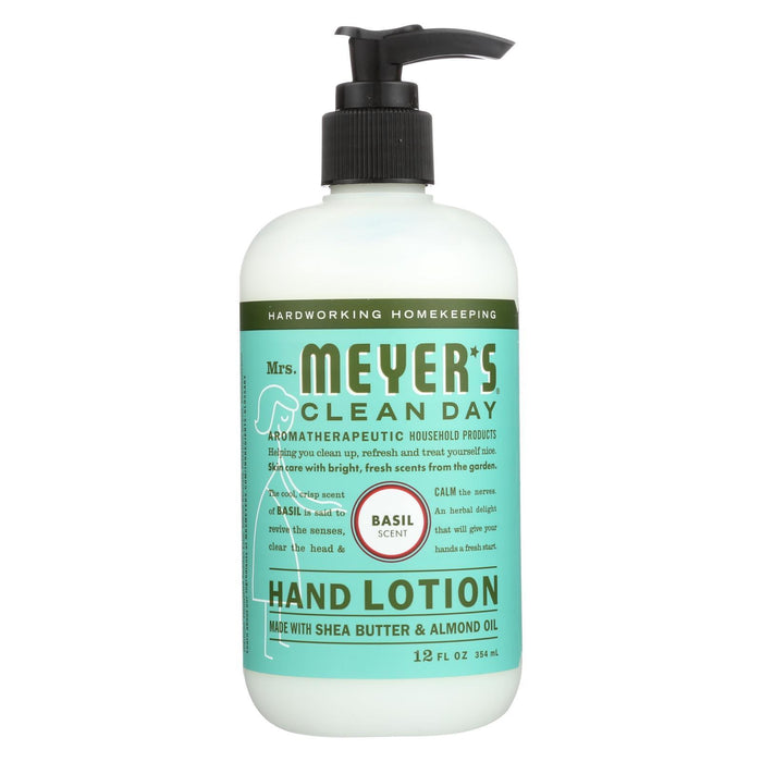 Mrs. Meyer'S Clean Day - Hand Lotion - Basil - Case Of 6 - 12 Fl Oz-Eco-Friendly Home & Grocery-Mrs. Meyer's-EpicWorldStore.com