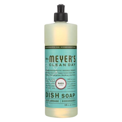 Mrs. Meyer'S Clean Day - Liquid Dish Soap - Basil - Case Of 6 - 16 Oz-Eco-Friendly Home & Grocery-Mrs. Meyer's-EpicWorldStore.com