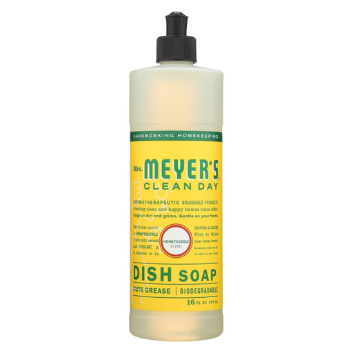 Mrs. Meyer'S Clean Day - Liquid Dish Soap - Honeysuckle - Case Of 6 - 16 Oz-Eco-Friendly Home & Grocery-Mrs. Meyer's-EpicWorldStore.com