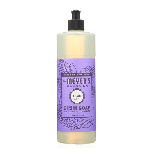 Mrs. Meyer'S Clean Day - Liquid Dish Soap - Lilac - Case Of 6 - 16 Fl Oz-Eco-Friendly Home & Grocery-Mrs. Meyer's-EpicWorldStore.com