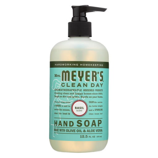 Mrs. Meyer'S Clean Day - Liquid Hand Soap - Basil - Case Of 6 - 12.5 Oz-Eco-Friendly Home & Grocery-Mrs. Meyer's-EpicWorldStore.com