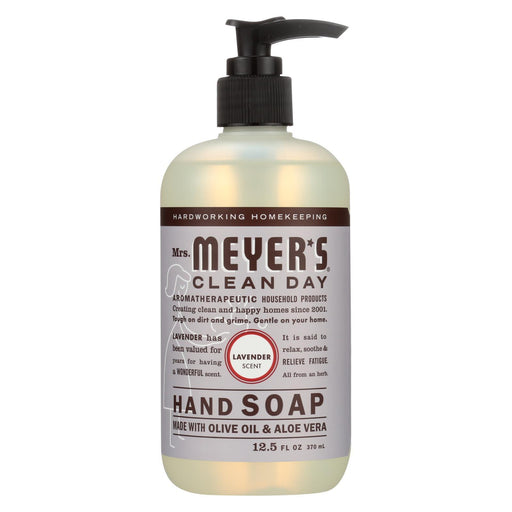 Mrs. Meyer'S Clean Day - Liquid Hand Soap - Lavender - Case Of 6 - 12.5 Oz-Eco-Friendly Home & Grocery-Mrs. Meyer's-EpicWorldStore.com