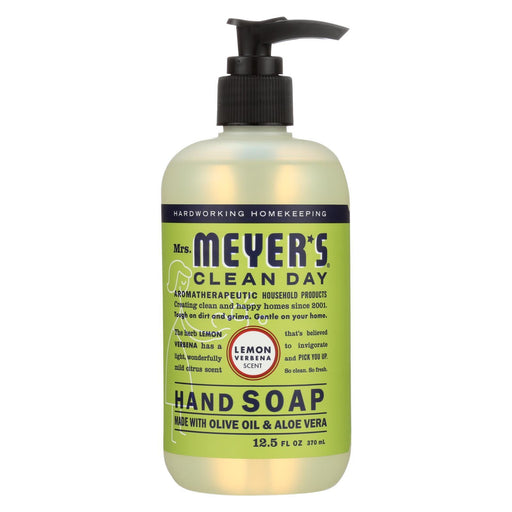 Mrs. Meyer'S Clean Day - Liquid Hand Soap - Lemon Verbena - Case Of 6 - 12.5 Oz-Eco-Friendly Home & Grocery-Mrs. Meyer's-EpicWorldStore.com