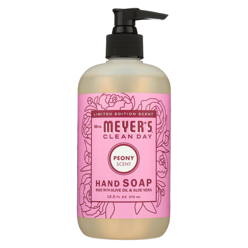 Mrs. Meyer'S Clean Day - Liquid Hand Soap - Peony - Case Of 6 - 12.5 Fl Oz.-Eco-Friendly Home & Grocery-Mrs. Meyer's-EpicWorldStore.com