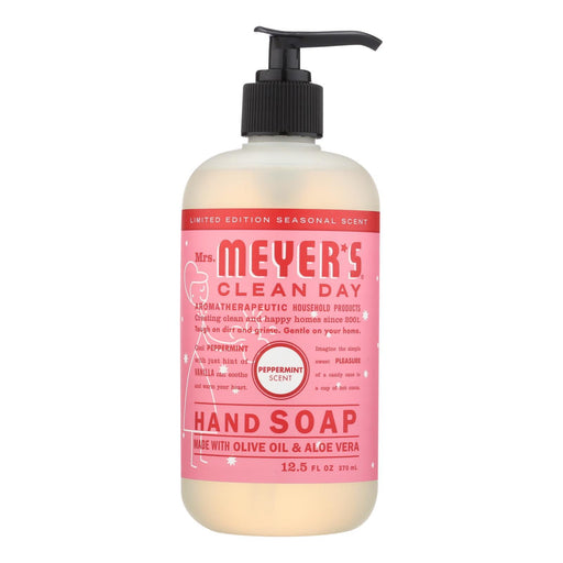 Mrs. Meyer'S Clean Day - Liquid Hand Soap - Peppermint - Case Of 6 - 12.5 Fl Oz.-Eco-Friendly Home & Grocery-Mrs. Meyer's-EpicWorldStore.com
