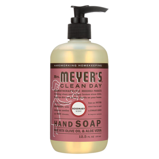 Mrs. Meyer'S Clean Day - Liquid Hand Soap - Rosemary - Case Of 6 - 12.5 Oz-Eco-Friendly Home & Grocery-Mrs. Meyer's-EpicWorldStore.com