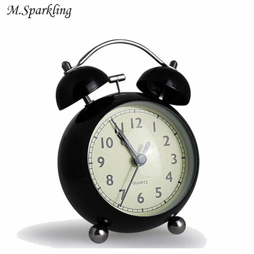 M.Sparkling Cute Desk Clock Alarm Clock Mute Night Light Candy Color Living Room Home Decorations-Cc Wall Clock Store Store-as picture-EpicWorldStore.com