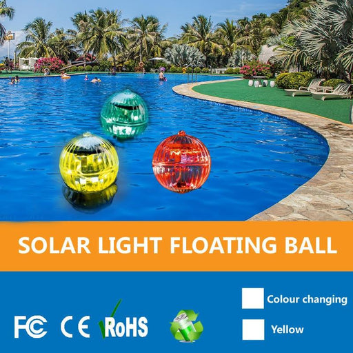 Multi Color Waterproof Ball Shaped Solar Floating Lamp Swimming Pool Lake Garden Home Lawn-LED Underwater Lights-Beautiful Harbor Store-Multicolor-EpicWorldStore.com