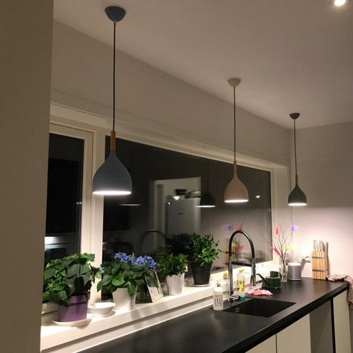 Multicolour Lustre Pendant Lights Restaurant Wood Hanging Lighting Kitchen Light Fixtures Modern E27-Pendant Lights-GEW Official Store-A style pink-Black power cord-EpicWorldStore.com