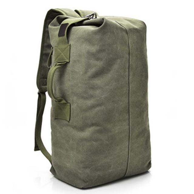 Multifunctional Military Tactical Canvas Backpack Men Male Big Army Bucket Bag Outdoor Sports Duffle-Camping & Hiking-Let's Travel Store-armygreen small-EpicWorldStore.com