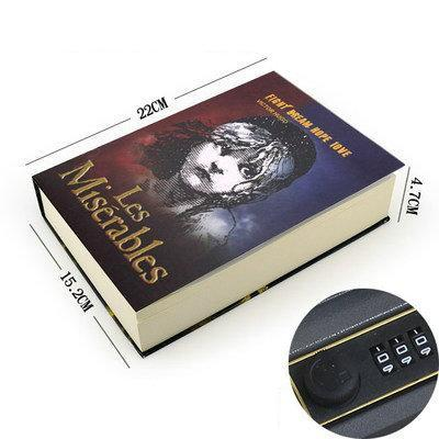 Multiple Simulation Books Mini Safe Hidden Security Lock Cash Coin Storage Jewelry Key Cabinet-Safes-Shop2656059 Store-password1-EpicWorldStore.com
