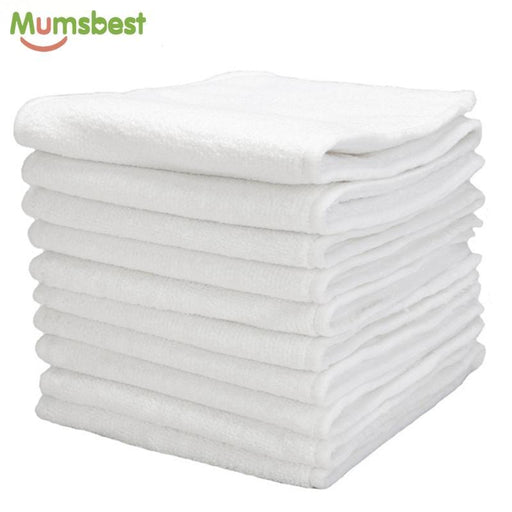 [Mumsbest] 10 Pcs Washable Reuseable Baby Cloth Diapers Nappy Inserts Microfiber 3 Layers-Baby Care-Mumsbest Official Store-EpicWorldStore.com