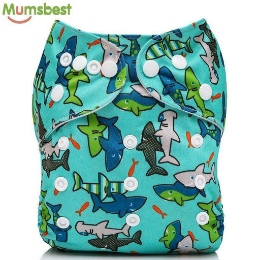 [Mumsbest] Baby Cloth Diaper Cover Waterproof Cartoon Fox Baby Washable Diapers Pocket Reusable-Baby Care-Mumsbest Official Store-DF01-with 1 insert-EpicWorldStore.com