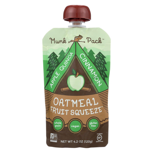 Munk Pack Apple Quinoa Cinnamon - Apple - Case Of 6 - 4.2 Oz.-Eco-Friendly Home & Grocery-Munk Pack-EpicWorldStore.com