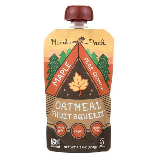 Munk Pack Oatmeal Fruit Squeeze - Maple Pear Quinoa - Case Of 6 - 4.2 Oz-Eco-Friendly Home & Grocery-Munk Pack-EpicWorldStore.com