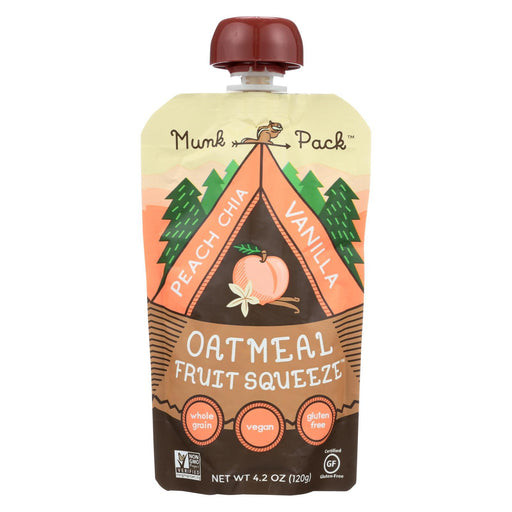 Munk Pack Peach Chia Vanilla - Peach - Case Of 6 - 4.2 Oz.-Eco-Friendly Home & Grocery-Munk Pack-EpicWorldStore.com