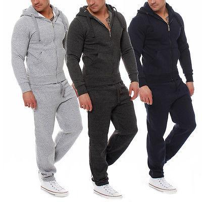Muscle Mens Fitness Suits Workout Tracksuit Hoodie Bottoms Pants 2Pcs Sets Sportsuits-Men's Sets-Today Store-Black-S-EpicWorldStore.com
