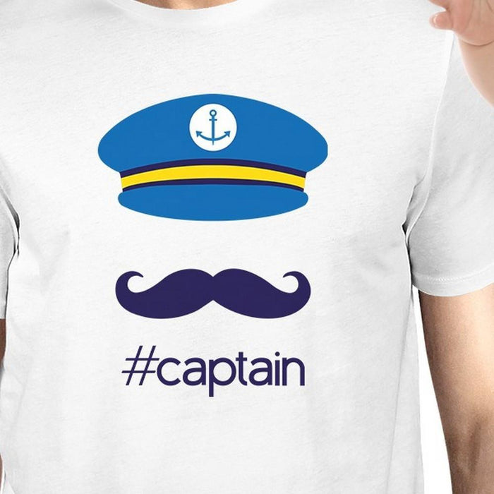 6926c805 My Captain White Cute Design Dad Baby Boy Matching Shirts Dad Gifts-Apparel  & Accessories
