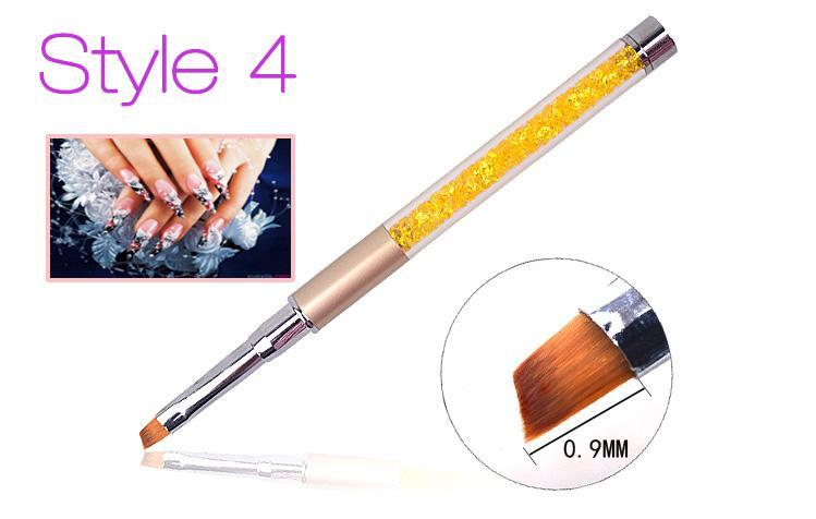 Nail Art Brush Pen Rhinestone Diamond Metal Acrylic Handle Carving Powder Gel Liquid Salon Liner-Health Care-APROMS Boutique Store-Style1-EpicWorldStore.com