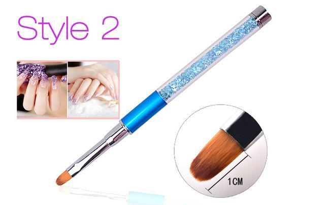 Nail Art Brush Pen Rhinestone Diamond Metal Acrylic Handle Carving Powder Gel Liquid Salon Liner-Health Care-APROMS Boutique Store-Style2-EpicWorldStore.com