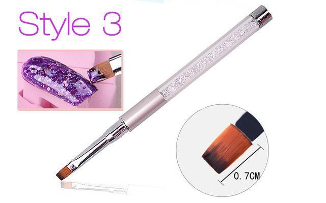 Nail Art Brush Pen Rhinestone Diamond Metal Acrylic Handle Carving Powder Gel Liquid Salon Liner-Health Care-APROMS Boutique Store-Style3-EpicWorldStore.com