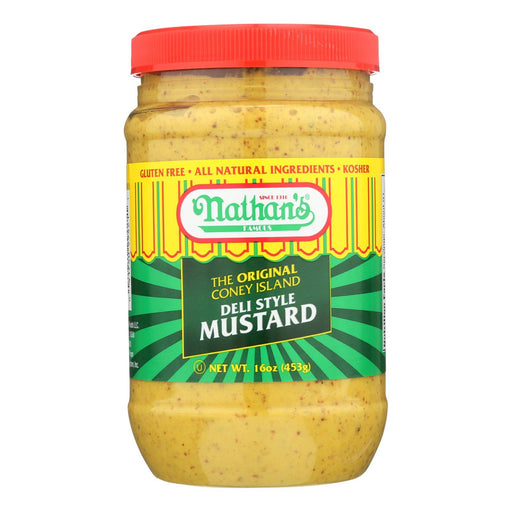 Nathans Famous Mustard - Case Of 12 - 16 Oz-Eco-Friendly Home & Grocery-Nathan's-EpicWorldStore.com