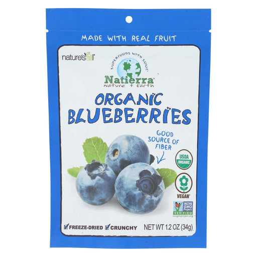Natierra Fruit - Organic - Freeze Dried - Blueberries - 1.2 Oz - Case Of 12-Eco-Friendly Home & Grocery-Natierra-EpicWorldStore.com