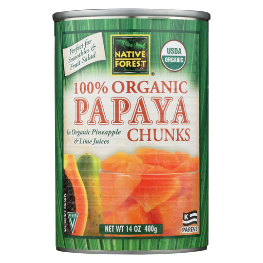 Native Forest Organic Chunks - Papaya - Case Of 6 - 14 Oz.-Eco-Friendly Home & Grocery-Native Forest-EpicWorldStore.com