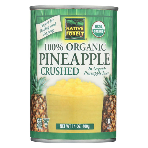 Native Forest Organic Pineapple - Crushed - Case Of 6 - 14 Oz.-Eco-Friendly Home & Grocery-Native Forest-EpicWorldStore.com