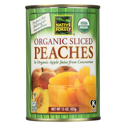 Native Forest Organic Sliced - Peaches - Case Of 6 - 15 Oz.-Eco-Friendly Home & Grocery-Native Forest-EpicWorldStore.com
