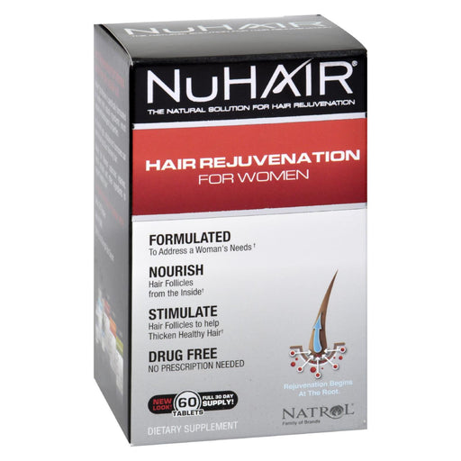 Natrol Hair Regrowth - Nuhair Women - 60 Tablets-Eco-Friendly Home & Grocery-Natrol-EpicWorldStore.com