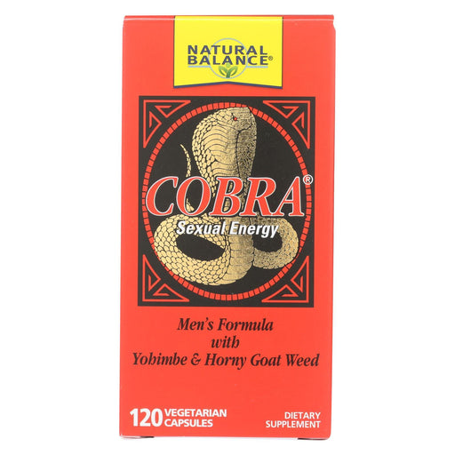 Natural Balance Cobra Sexual Energy - 120 Vegetarian Capsules-Eco-Friendly Home & Grocery-Natural Balance-EpicWorldStore.com