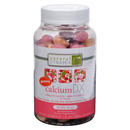 Natural Dynamix Calcium Dx For Adults - 60 Gummies-Eco-Friendly Home & Grocery-Natural Dynamix-EpicWorldStore.com