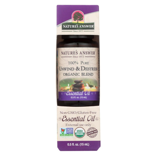 Nature'S Answer - Organic Essential Oil Blend - Unwind And Destress - 0.5 Oz.-Eco-Friendly Home & Grocery-Nature's Answer-EpicWorldStore.com