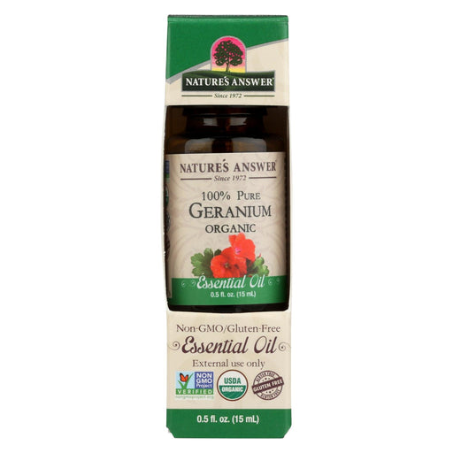 Nature'S Answer - Organic Essential Oil - Geranium - 0.5 Oz.-Eco-Friendly Home & Grocery-Nature's Answer-EpicWorldStore.com