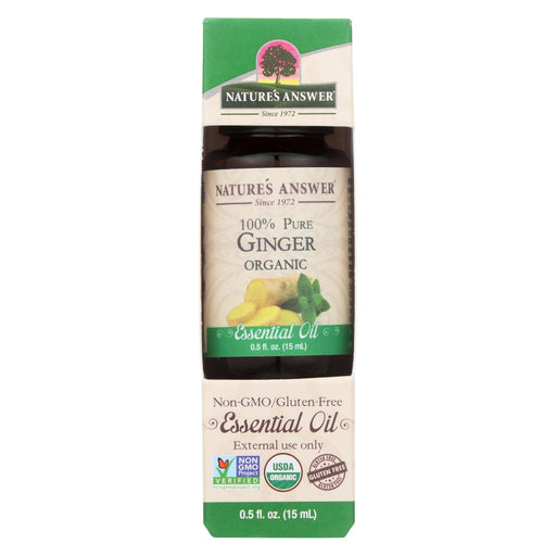 Nature'S Answer - Organic Essential Oil - Ginger Root - 0.5 Oz.-Eco-Friendly Home & Grocery-Nature's Answer-EpicWorldStore.com